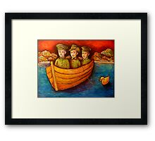 boy soldiers ANZAC Cove, 1915 Framed Print