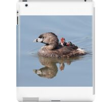 """Mom!...Timmy won't move over!"" Pied-billed grebes iPad Case/Skin"