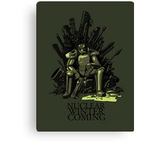 Nuclear winter is coming Canvas Print