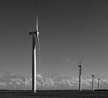 The many Turbines of Wattle Point - Monochrome by AllshotsImaging
