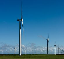 The Many Turbines of Wattle Point - in vivid colour by AllshotsImaging