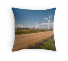Wind Power in Motion Throw Pillow