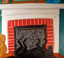 Lucy near the fireplace by csoccio100