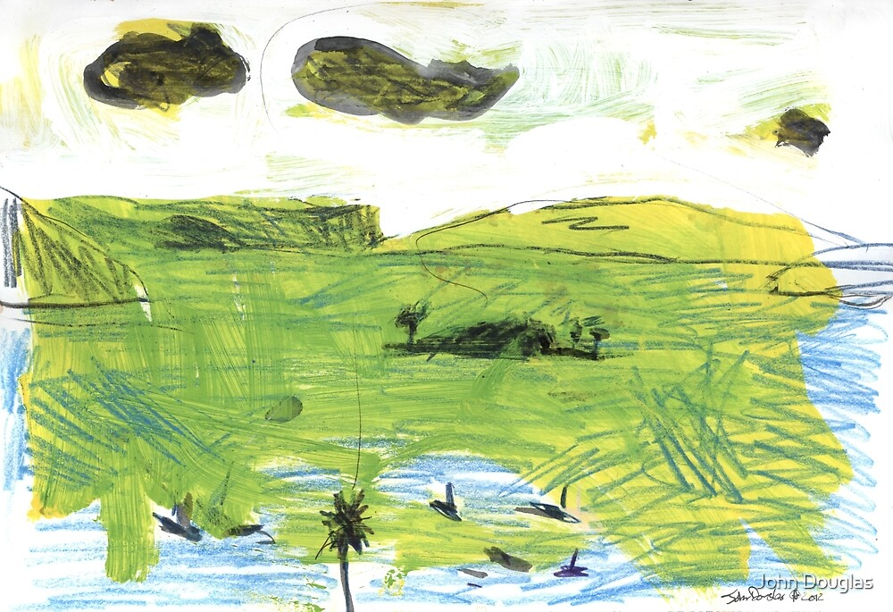 Three Clouds Over Sydney Heads by John Douglas