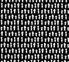 Mononoke pattern -black- by CoyoDesign
