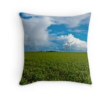Wattle Point Windfarm Cloudscape Throw Pillow