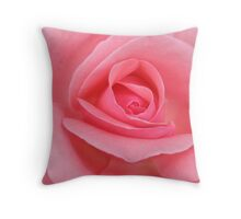 up close and pink Throw Pillow