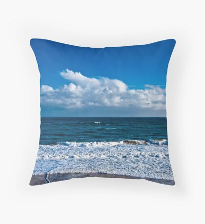 Cloudscape by the Sea Throw Pillow