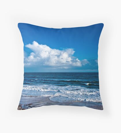 Cloudscape by the Sea #2 Throw Pillow