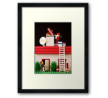 Who's That Up On The Roof? Framed Print