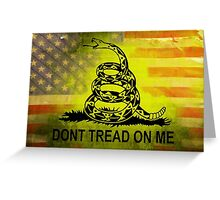 Don't Tread on Me Shirts & Sticker American Flag Background Greeting Card