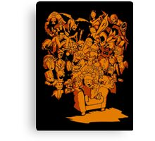Tales of Video Games (orange) Canvas Print