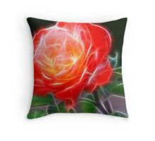 Shining Rose Throw Pillow