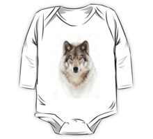 Portrait of a Wolf - Timber Wolf One Piece - Long Sleeve