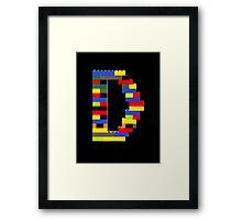 D Framed Print