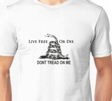 Live Free or Die Don't Tread on Me Shirts and Stickers Unisex T-Shirt