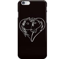 For the Love of Horses (white on solid) iPhone Case/Skin