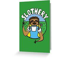 Slothery Greeting Card