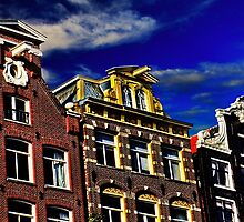 Buildings in Amsterdam Fine Art Print by stockfineart