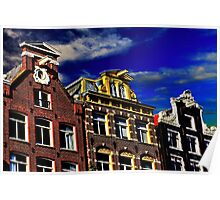 Buildings in Amsterdam Fine Art Print Poster