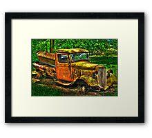 old truck Framed Print