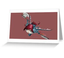 fairy tail erza scarlet dragon anime manga shirt Greeting Card
