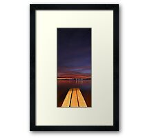 Jetty At Dusk  Framed Print