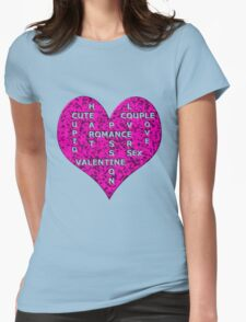 Hot Pink Marble Heart With Words T-Shirt