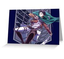 Attack on titan Levi anime manga shirt Greeting Card