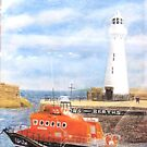 Donaghadee Lighthouse and Lifeboat by Hilary Robinson