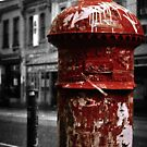 Red Letterbox by Trish Woodford