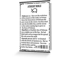 ATHEIST BIBLE BACK COVER Greeting Card