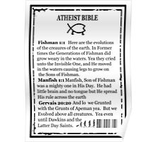 ATHEIST BIBLE BACK COVER Poster