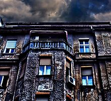 Ruined Residential Building Belgrade by stockfineart