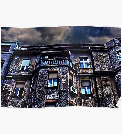 Ruined Residential Building Belgrade Poster