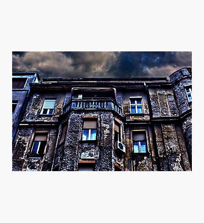 Ruined Residential Building Belgrade Photographic Print