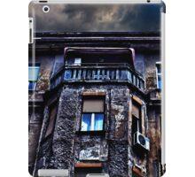Ruined Residential Building Belgrade iPad Case/Skin