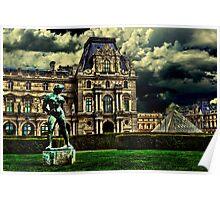 Louvre Museum Paris Fine Art Print Poster