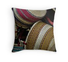 Baskets Galore Throw Pillow