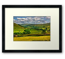 Looking Down The Dale. Framed Print