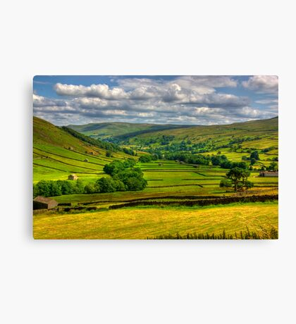 Looking Down The Dale. Canvas Print
