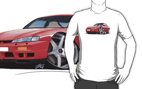 Nissan 200SX S14 Red by Richard Yeomans