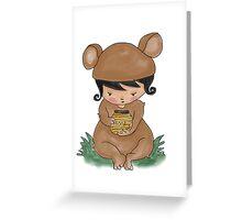 Honey Jar Bear Greeting Card