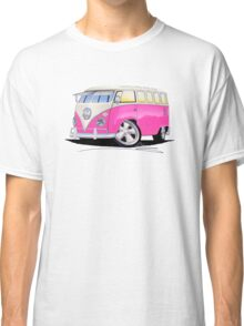 VW Splitty (23 Window) Camper Van Pink Classic T-Shirt
