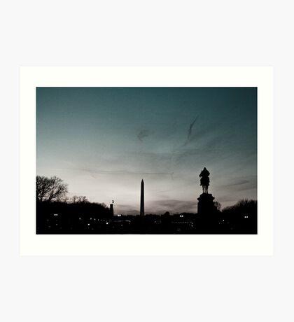 Washington Monument at Sunset Art Print