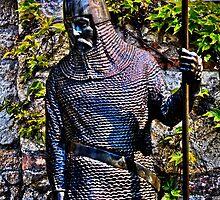 Knight Statue Fortress Kalemgdan Belgrade by stockfineart
