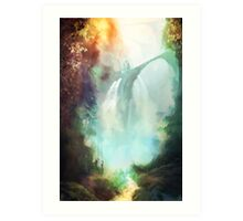 At the Emerald Vale Art Print