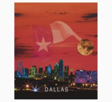 DALLAS Sunrise Skyline with Text One Piece - Short Sleeve
