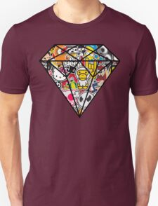 Diamind Sticker bomb- Vintage T-Shirt