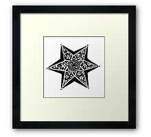 Hex-tangled Framed Print